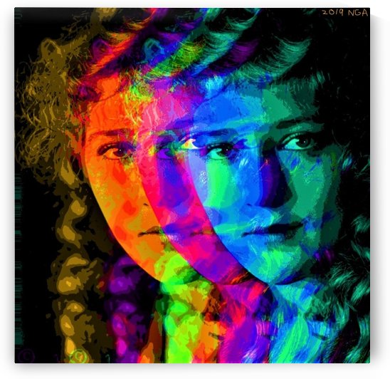 Color Portrait of Mary Pickford   - by Neil Gairn Adams by Neil Gairn Adams
