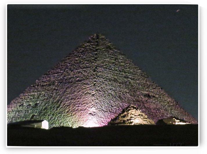 Ghiza Pyramids in night glimmers by MTT