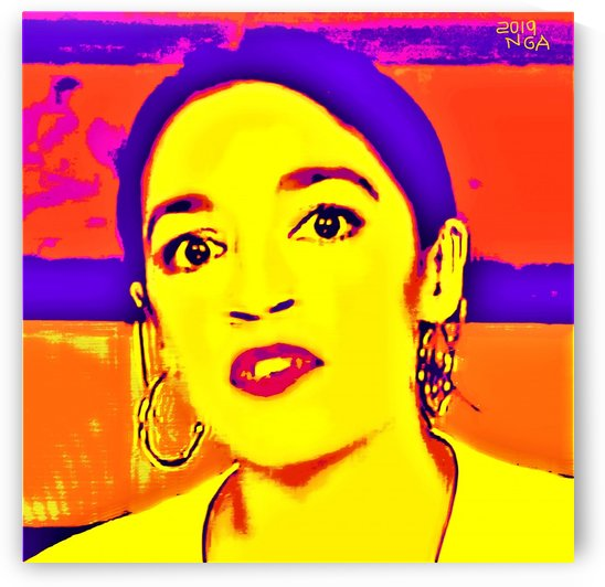 Alexandria Ocasio Cortez   by Neil Gairn Adams by Neil Gairn Adams