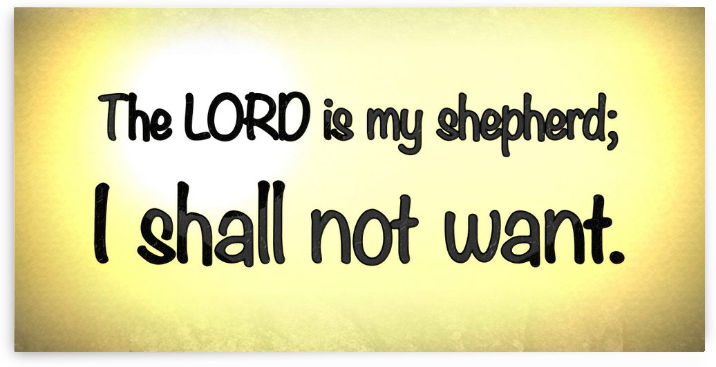 Psalm 23 1 by Scripture on the Walls