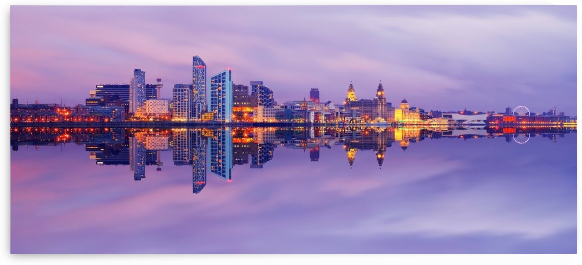 LIV 007 Liverpool Skyline   PANORAMIC by Michael Walsh