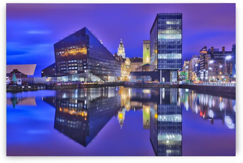 LIV 004 Dock Reflections by Michael Walsh