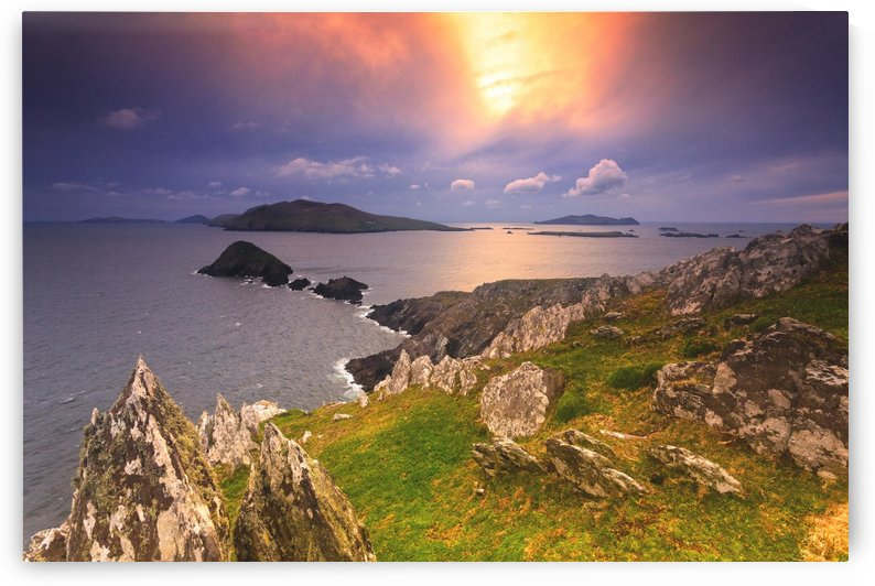 KY 602 Blasket Island Sunset by Michael Walsh