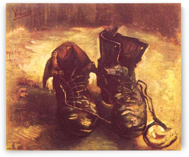 Still Life, A pair of shoes -1- by Van Gogh by Van Gogh