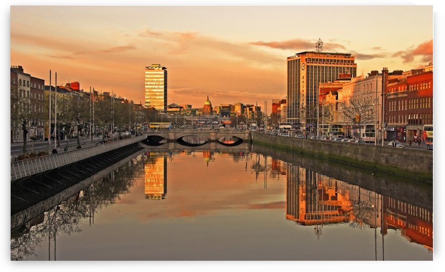 D 090 Liffey Reflections  by Michael Walsh