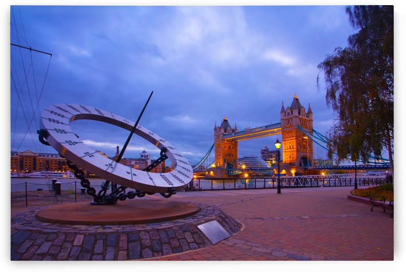 Sundial and Tower Bridge 1 by Michael Walsh