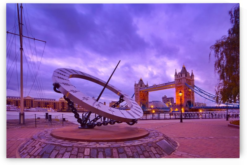Sundial and Tower Bridge by Michael Walsh