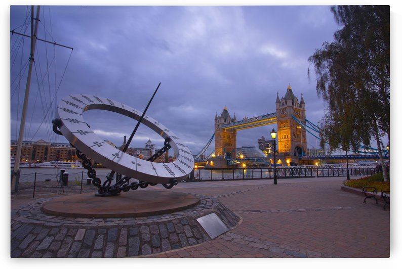 Sundial and Tower Bridge 2 by Michael Walsh