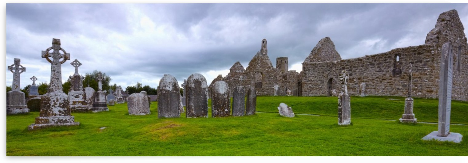 OY 008 Clonmacnoise (large Panoramic) by Michael Walsh