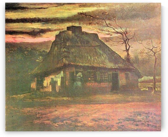 Straw hut at dusk by Van Gogh by Van Gogh