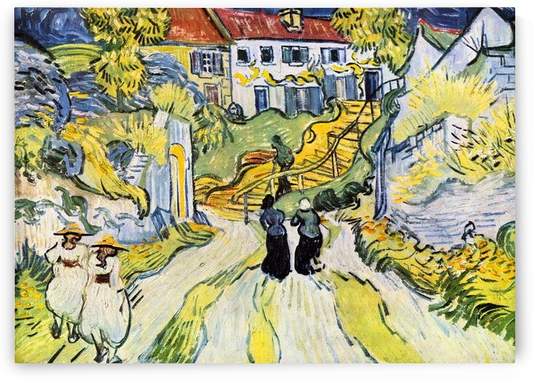 Street and road in Auver by Van Gogh by Van Gogh