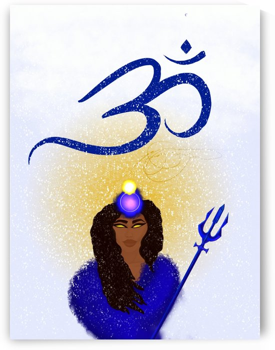 Om Goddess by Afrocentric Painter