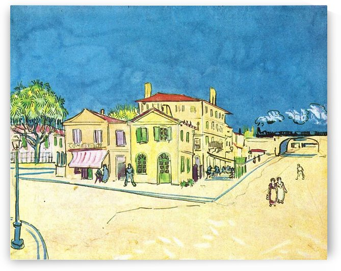 Study on Vincents House in Arles by Van Gogh by Van Gogh