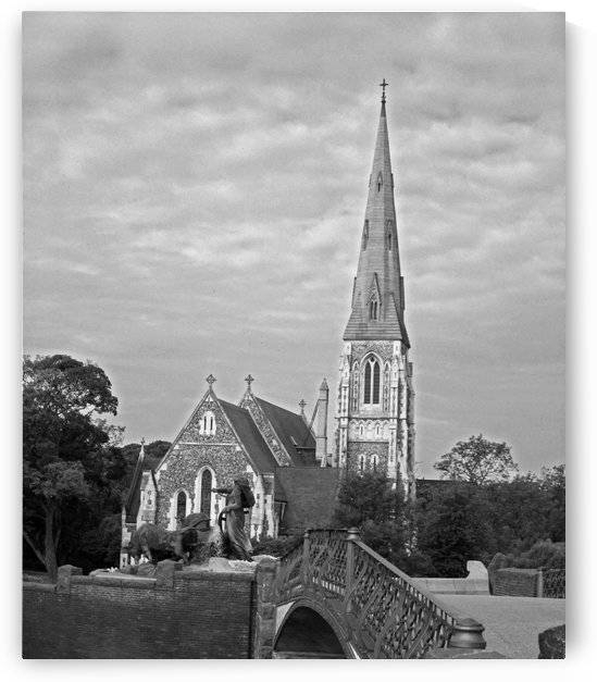 St. Albons Church B&W by Gods Eye Candy