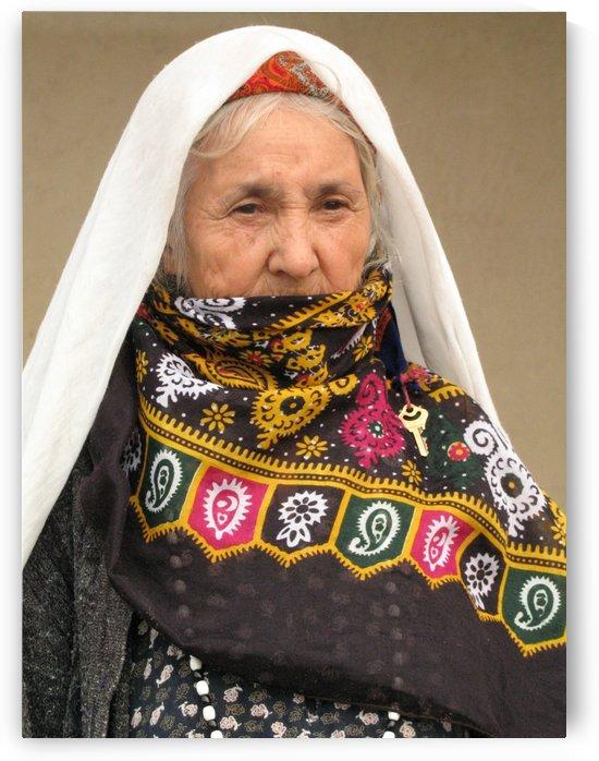Old Turkmen Woman  by JAMALEDDIN TOOMAJNIA