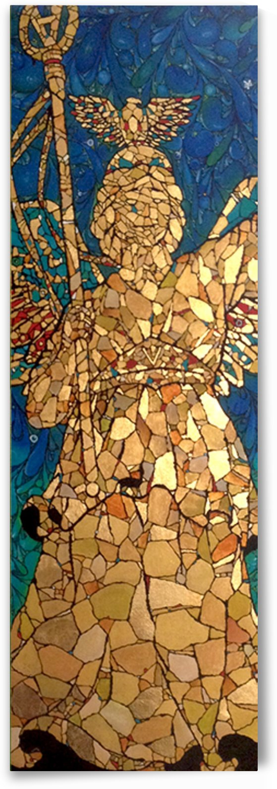 The Guardian Gold Angel by Ari Glass