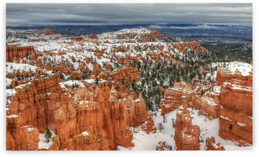 SNOW AT BRYCE CANYON by Bill Sherrell