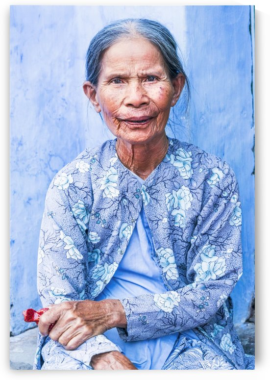 THE BLUE LADY OF HOI AN by ANDREW LEVER GALLERY