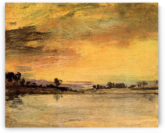 Sunrise on the river by Joseph Mallord Turner by Joseph Mallord Turner