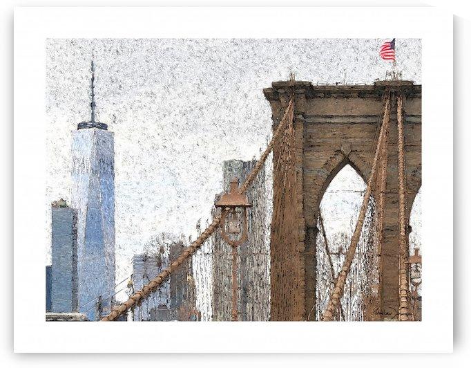 New York - Pont de Brooklyn by Jean-Louis Desrosiers