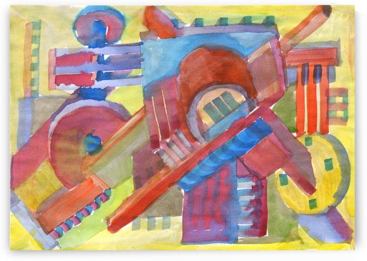3D industrial design watercolor by Dobrotsvet Art