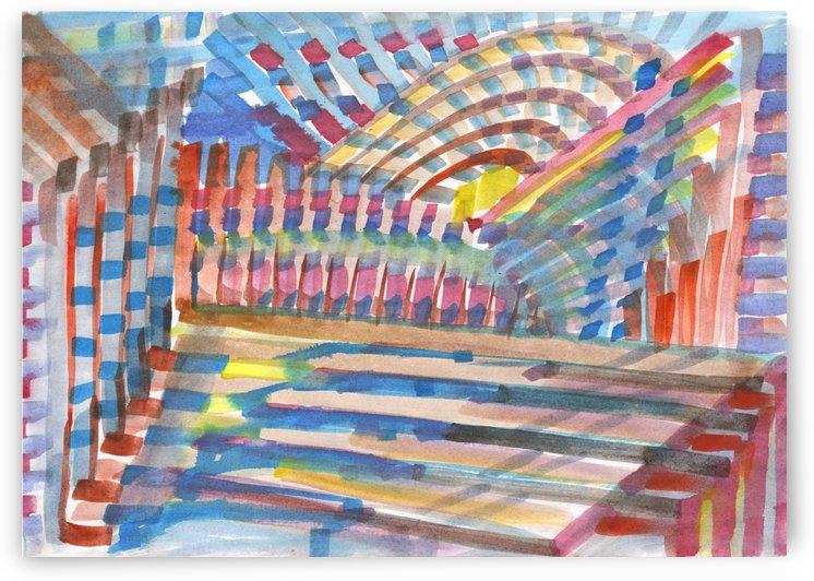 Watercolor geometric abstraction by Dobrotsvet Art