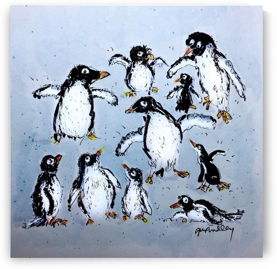 Penguins by Gerri Findley