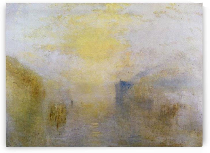 Sunrise, boat between headlands by Joseph Mallord Turner by Joseph Mallord Turner