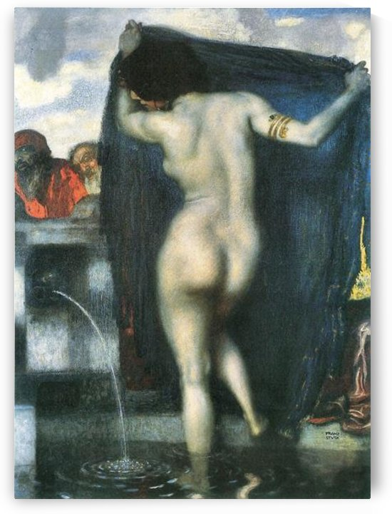 Susanna in the bath -1- by Franz von Stuck by Franz von Stuck