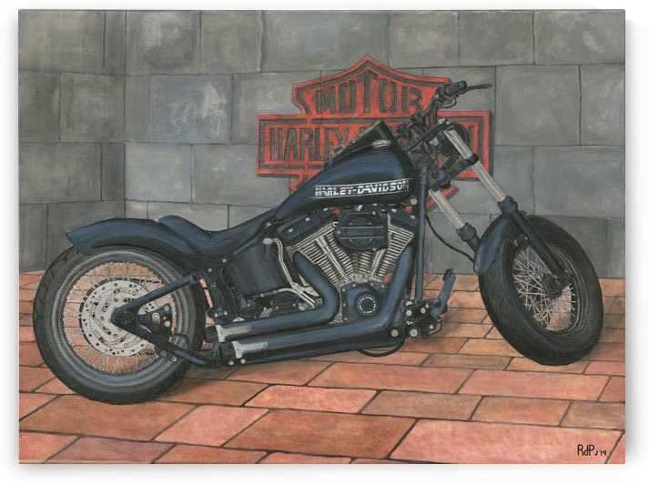Harley Davidson Motorcycle by RDPJArt