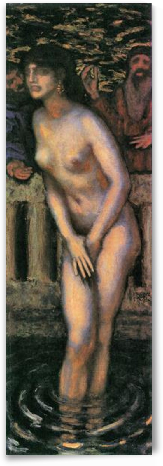 Susanna in the bath -2- by Franz von Stuck by Franz von Stuck