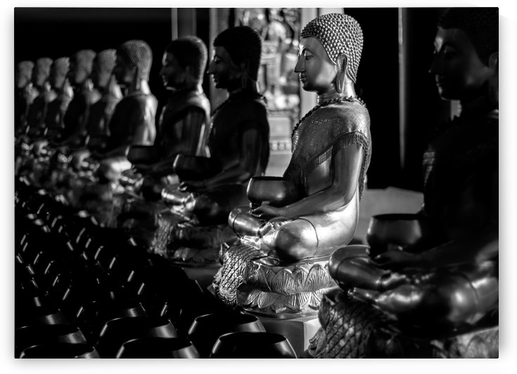 Buddha statues in a row by Krit of Studio OMG