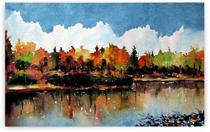 Watercolor Landscape by Chayim Shvarzblat