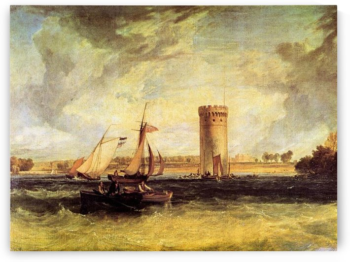 Tabley, Windy day by Joseph Mallord Turner by Joseph Mallord Turner