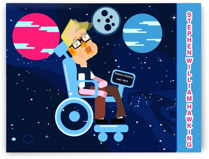 Stephen William Hawking illustartion by kartick dutta