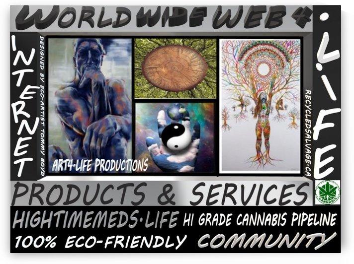 WORLDWIDEWEB4LIFE LARGE by Eco-Artist Tommy Boyd