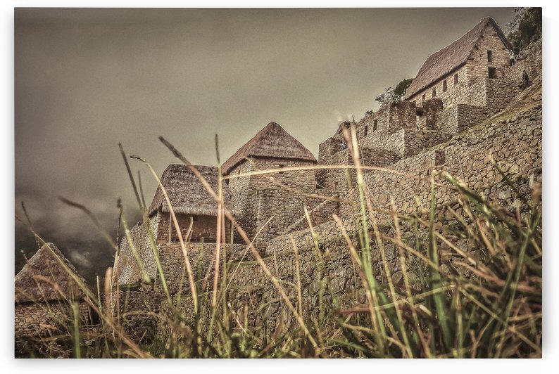 Houses of Machu Picchu Inca City by Daniel Ferreia Leites Ciccarino