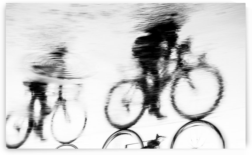 REFLECTED CYCLISTS by ANDREW LEVER GALLERY
