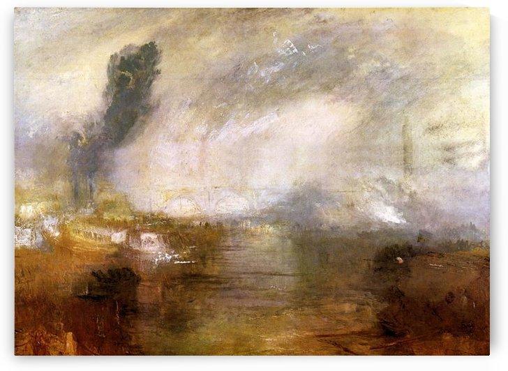 Thames above Waterloo bridge by Joseph Mallord Turner by Joseph Mallord Turner