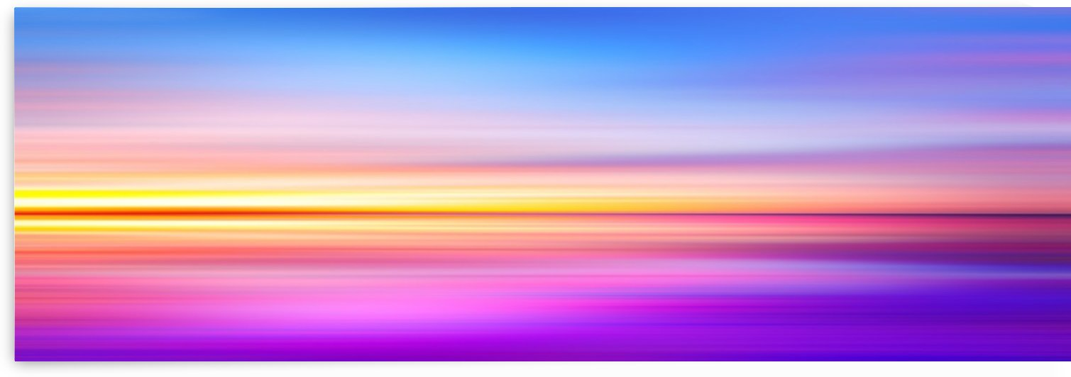 Abstract Sunset VII   Panoramic by Art Design Works