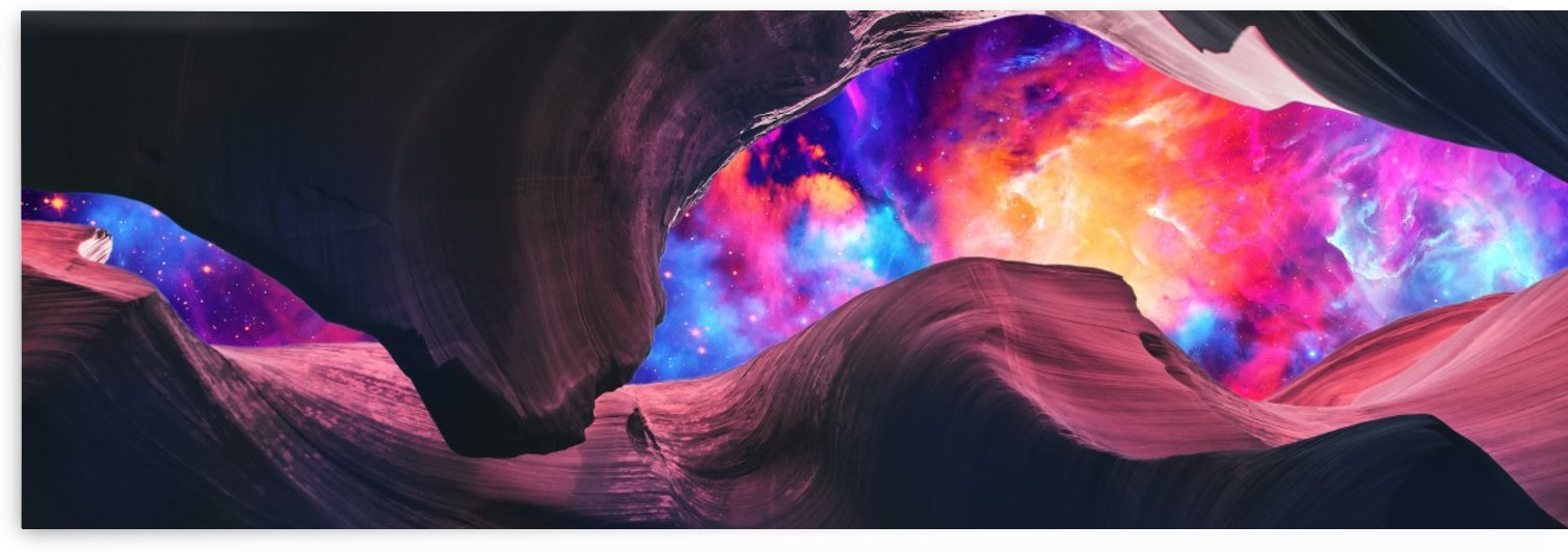 Grand Canyon with Colorful Space Collage I   Panoramic by Art Design Works