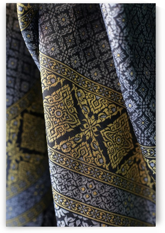 Traditional Asian pattern on textile by Krit of Studio OMG