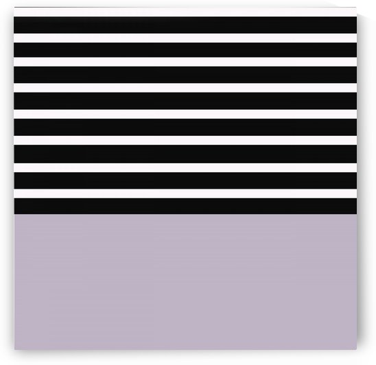 Black & White Stripes with Purple Patch by rizu_designs