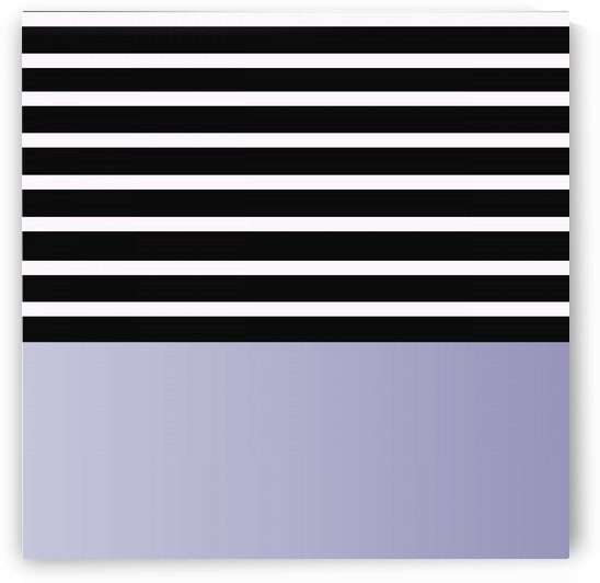 Black & White Stripes with Lavender Patch by rizu_designs