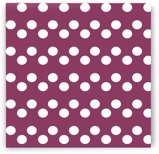 DARK PINK Polka Dots by rizu_designs