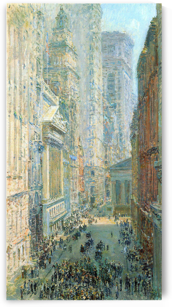 Lower Manhattan by Hassam by Hassam