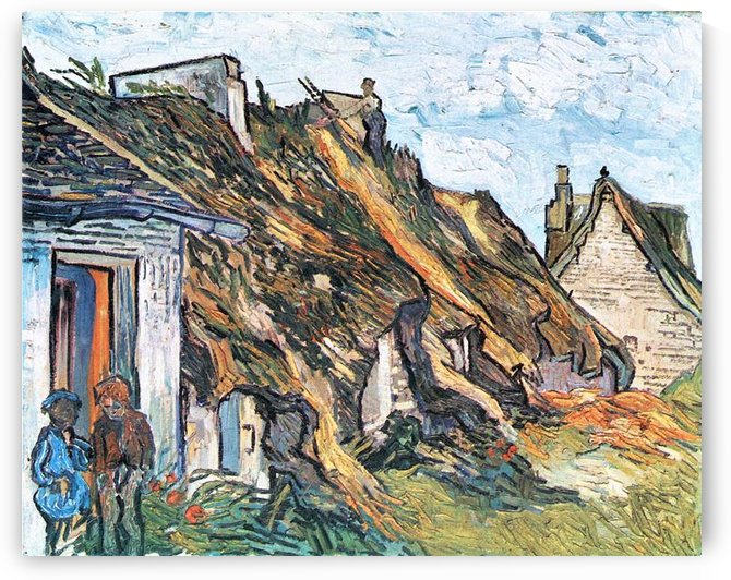 Thatched hut in Chaponval by Van Gogh by Van Gogh