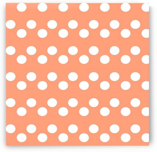 LIGHT SALMON Polka Dots by rizu_designs