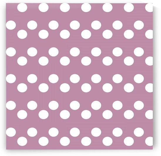 DARK MAUVE Polka Dots by rizu_designs