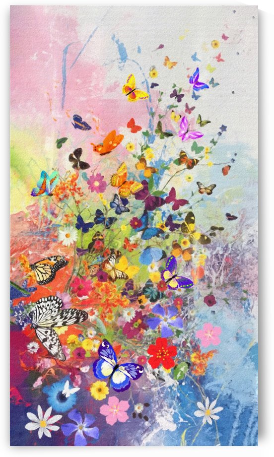 Butterflies and Flowers  by Gabriella David